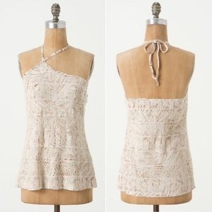 Anthropologie VanessaVirginia Halter Embroider Top